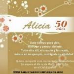 Tarjetas de cumpleaños para 50 años