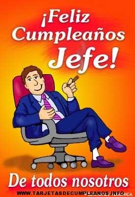 Tarjetas de cumpleaños para el jefe