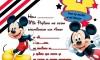 Tarjetas de cumpleaños de Mickey Mause