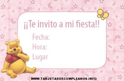 Tarjetas de invitación para cumpleaños infantiles
