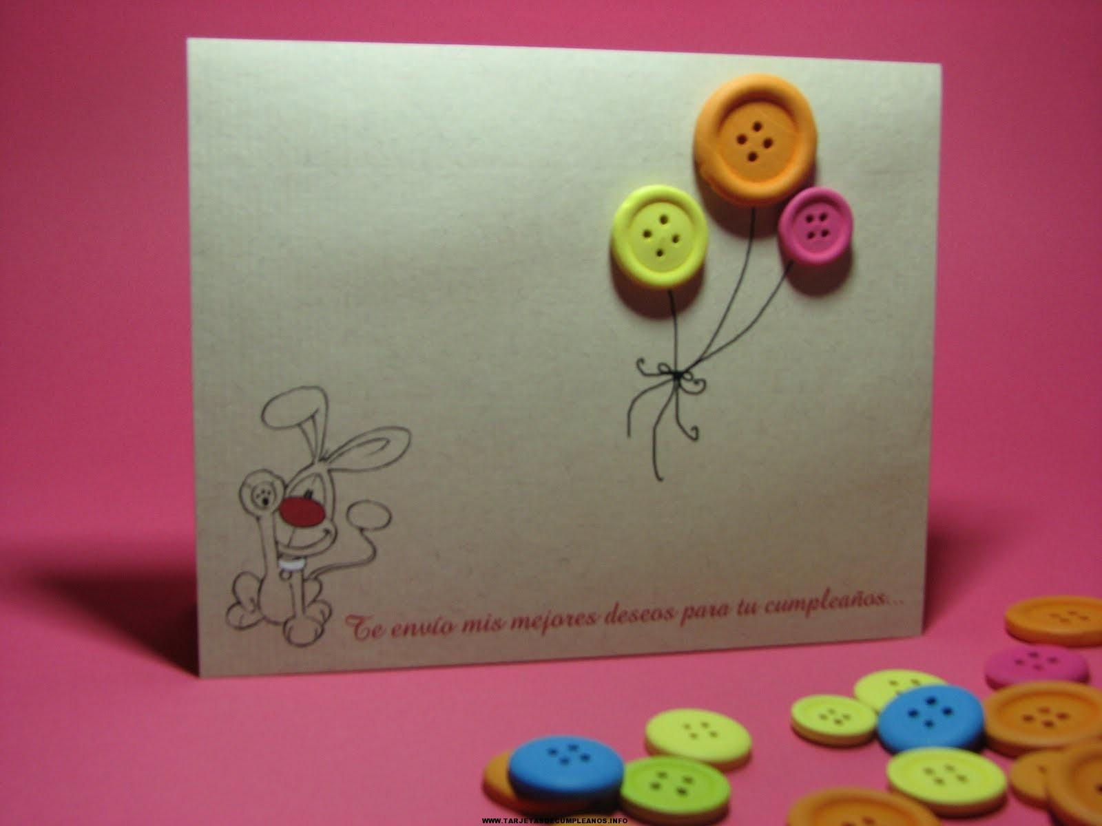 Tarjetas de cumpleaños creativas