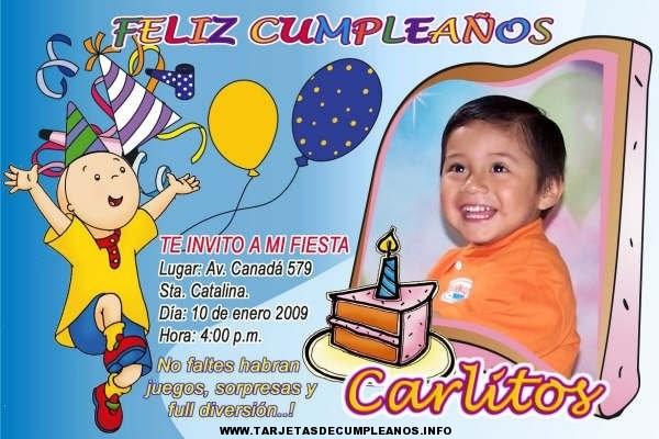 Tarjeta cumpleaños infantiles personalizadas