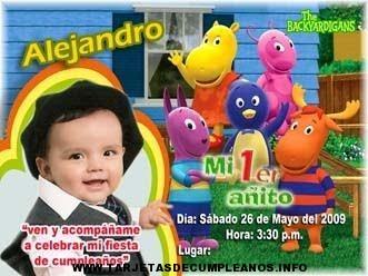 Fotos infantiles para tarjeta de cumpleaños