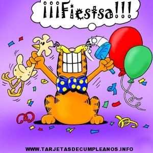 Tarjetas de invitaciones de Garfield
