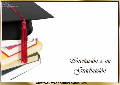 Diseños para invitaciones de graduación | Tarjetas de cumpleaños ...
