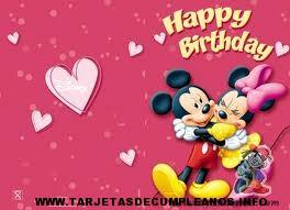 Tarjetas de cumpleaños, Disney animadas