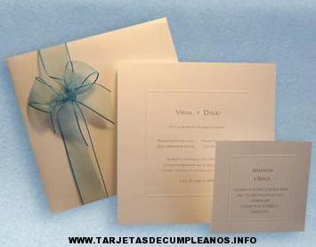 Tarjeta de invitación para casamiento