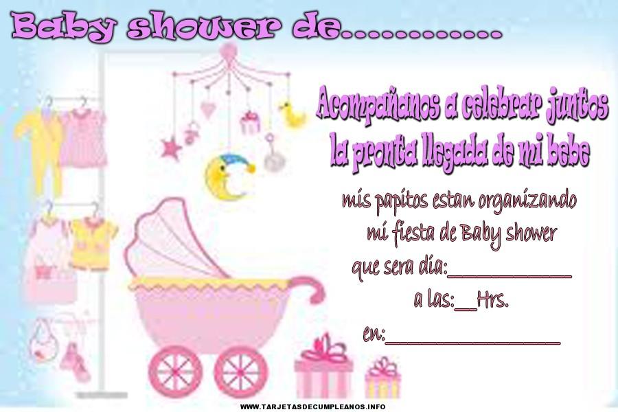 Tarjetas de cumpleaños para baby shower