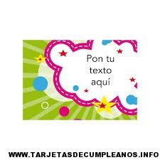 Tarjetas de cumpleaños infantil online