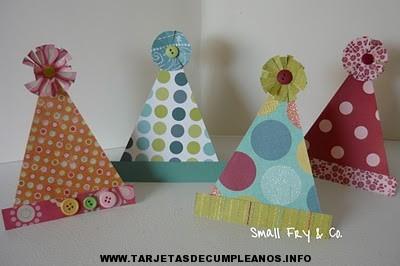 Manualidades tarjetas de cumplea os tarjetas de cumplea os - Manualidades para hacer en un cumpleanos ...