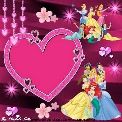 Tarjetas de cumpleaños princesas