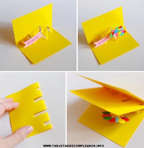 como hacer tarjetas de cumpleaños infantiles