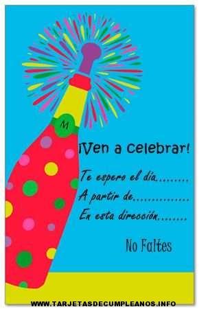 tarjetas de invitacion de cumpleaños para adultos