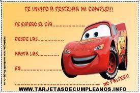 Tarjetas de cumpleaños cars
