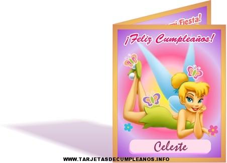 tarjetas de cumpleaños de tinkerbell