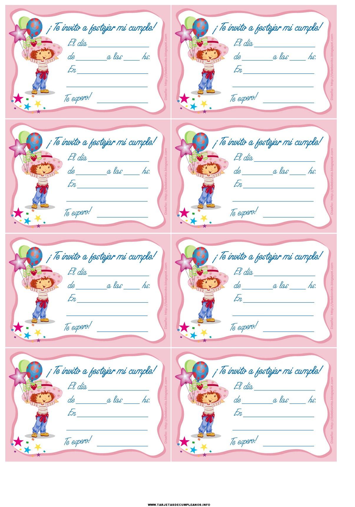tarjetas de invitacion a cumpleaños para imprimir