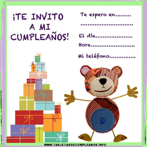 Tarjetas de cumpleaños para bebés