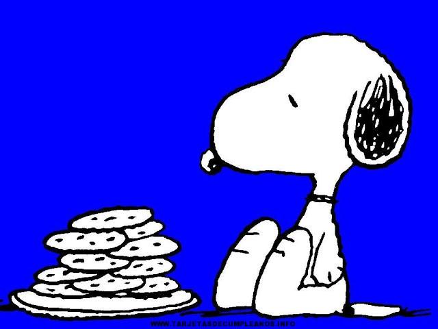 Tarjeta de cumpleaños para imprimir de Snoopy