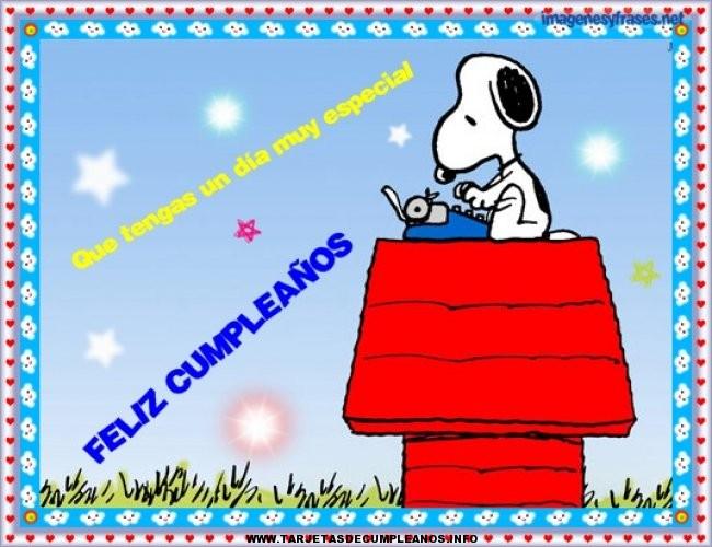 Tarjetas de cumpleaños gratis de Snoopy Tarjetas de cumpleaños