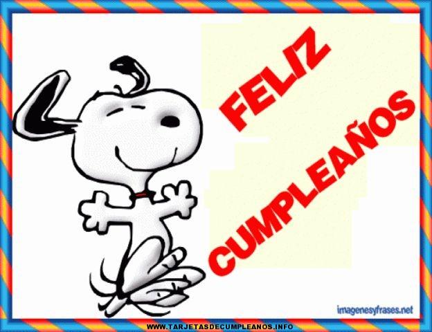 Tarjetas de cumpleaños de Snoopy gratis