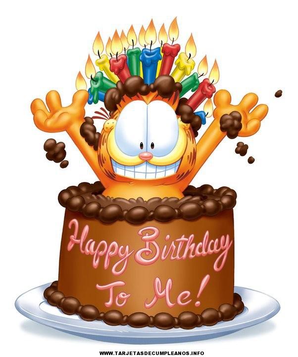 Bonitas tarjetas de cumpleaños de Garfield