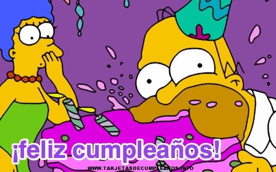 Compartir tarjeta de cumpleaños de los Simpsons