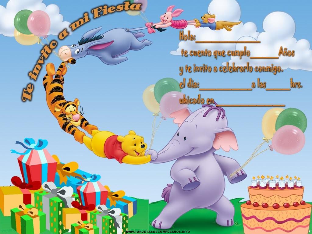 Lindas tarjetas de cumpleaños con Winnie Pooh