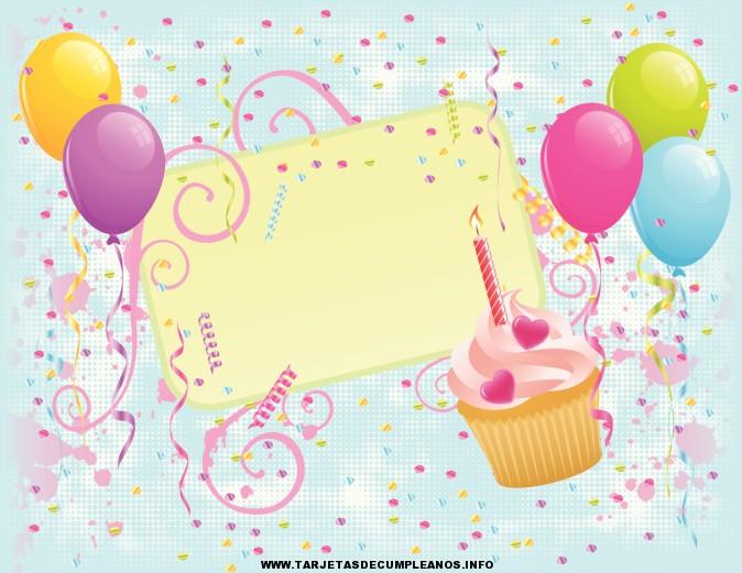 Tarjetas de cumpleaños para imprimir de sorpresas