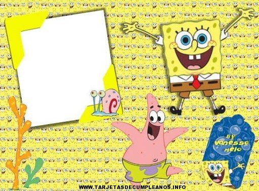 Tarjetas de cumpleaños con dibujo de Bob esponja