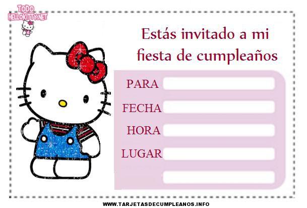Diseños de tarjetas de cunpleaños de Hello kitty