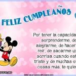 Tarjetas de Disney con mensajes de cumpleaños