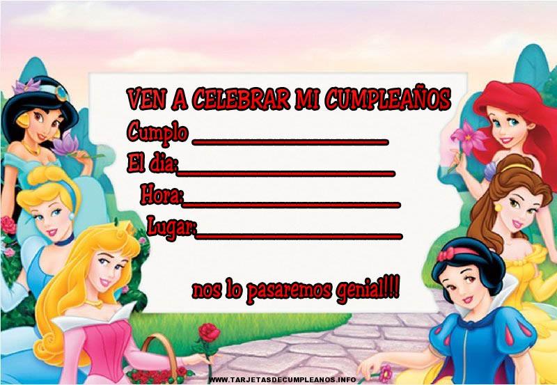 Tarjetas de cumpleaños gratis de Disney
