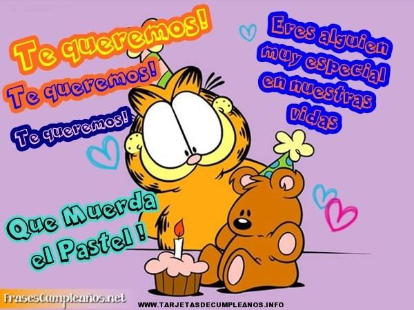 Tarjetas de cumpleaños de Garfield
