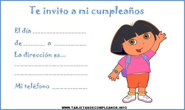 Tarjetas de cumpleaños gratis Dora la exploradora