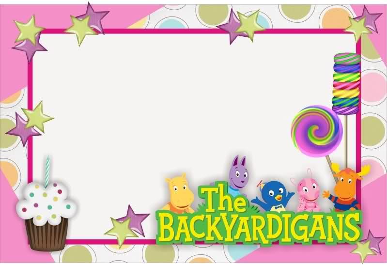 Tarjetas de cumpleaños gratis de Backyardigans Uniqua