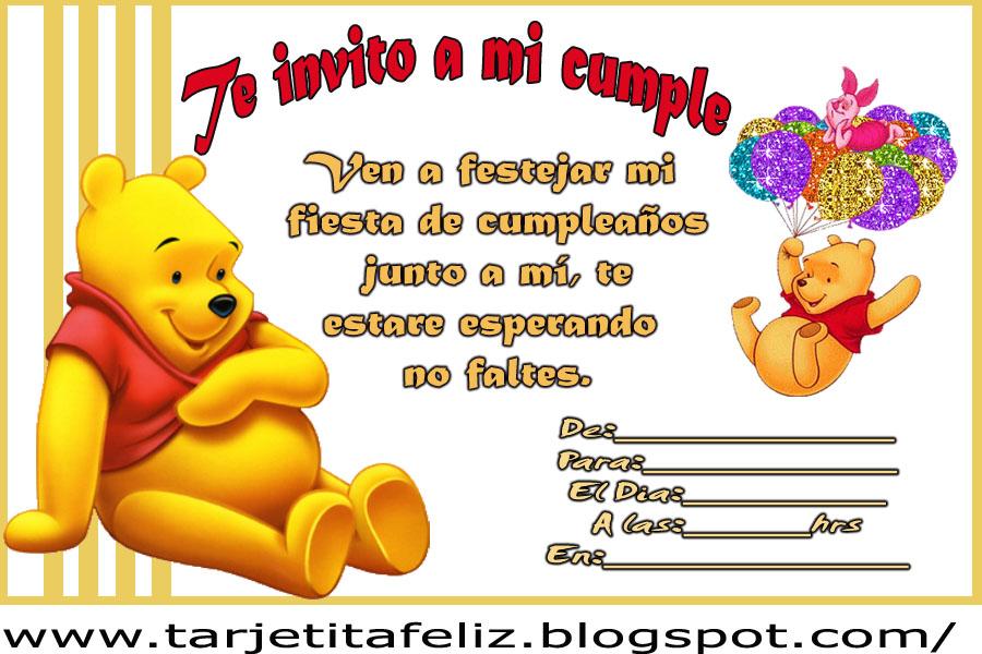 Winnie pooh en tarjetas de cumplea os tarjetas de - Modelos de tarjetas de cumpleanos para adultos ...