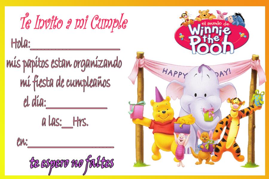 Winnie Pooh en tarjetas de cumpleaños