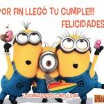 Tarjetas de cumpleaños gratis de Minions