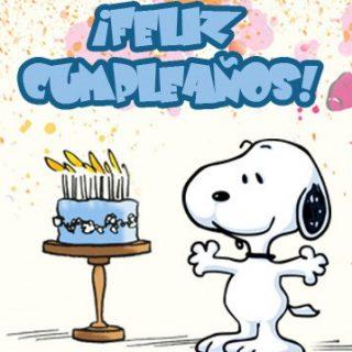 Tarjetas de cumpleaños de Snoopy