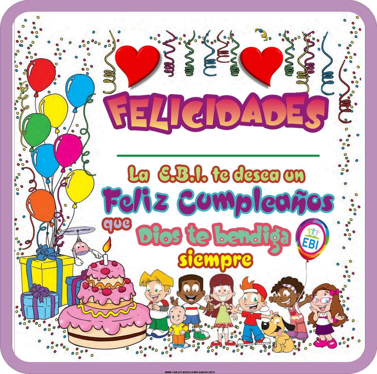Tarjetas de cumplea os para regalar tarjetas de cumplea os - Felicitaciones cumpleanos infantiles ...