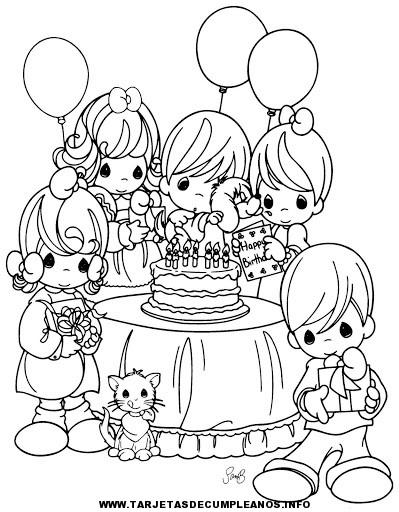 Imágenes para colorear de cumpleaños | Tarjetas de cumpleaños