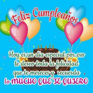feliz cumpleaños te quiero 3