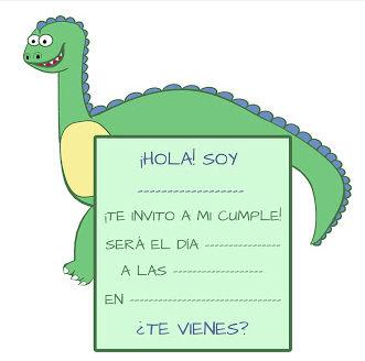 invitaciones de cumpleanos infantiles 4 dinosaurio