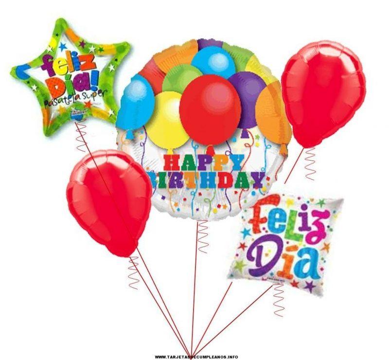 tarjetas de cumpleaños con globos 2 - feliz día happy birthday