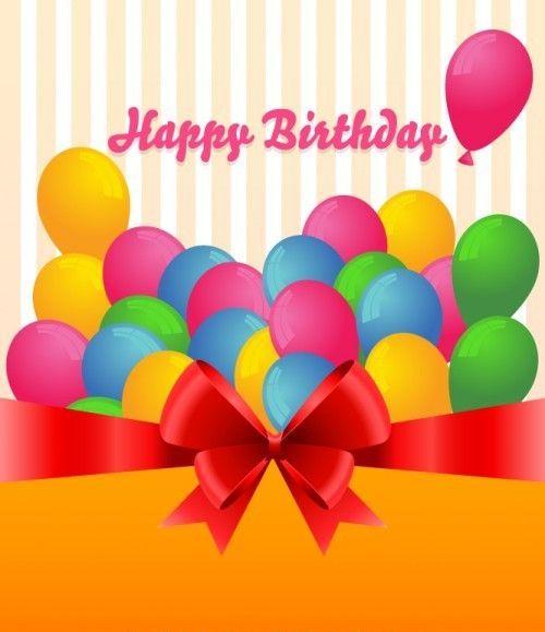 tarjetas de cumpleaños con globos 3 - happy birthday