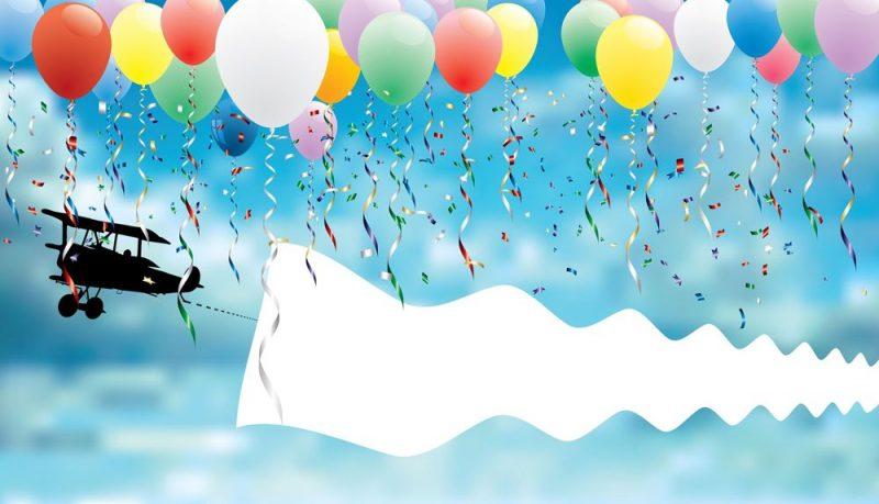 tarjetas de cumpleaños con globos 8