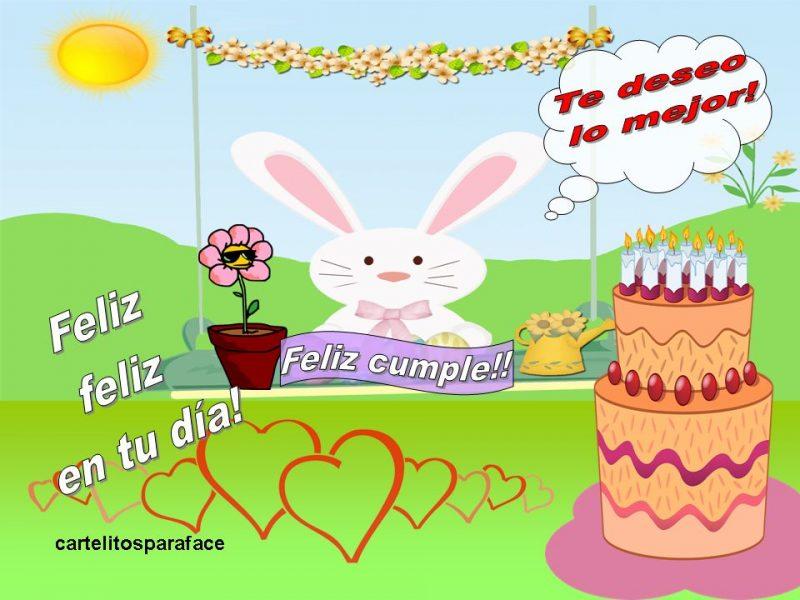 tarjetas de cumpleaños conejito feliz 1