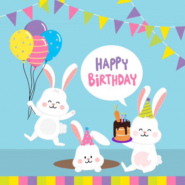 tarjetas de cumpleaños conejito feliz 2