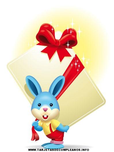 tarjetas de cumpleaños conejito feliz 3