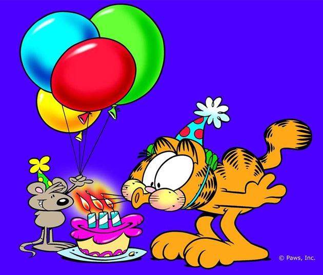 tarjetas de cumpleaños de garfield 2